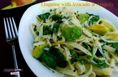 Linguine Avocado and Arugula