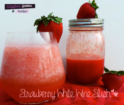 strawberry white wine slush