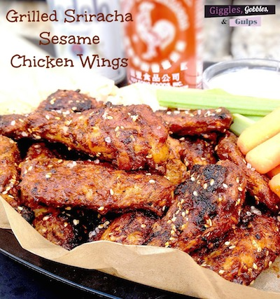 Grilled Sriracha Sesame Chicken Wings