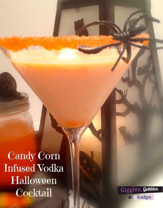 Candy Corn Infused Vodka Halloween Cocktail