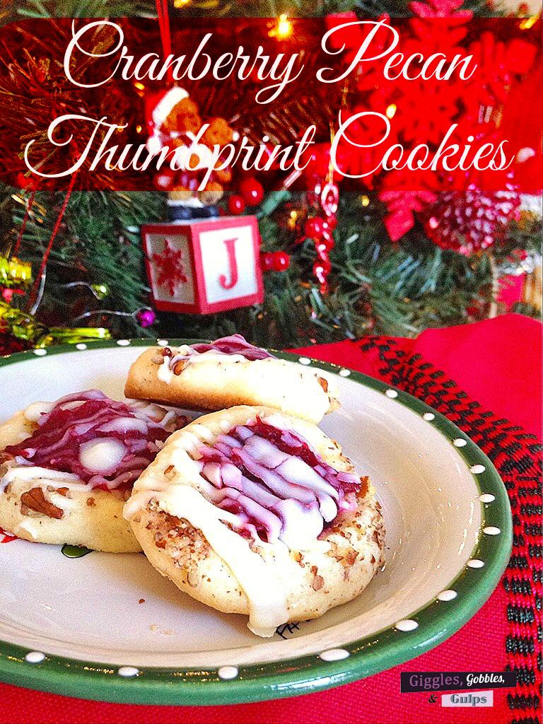 cranberry pecan thumbprint cookies