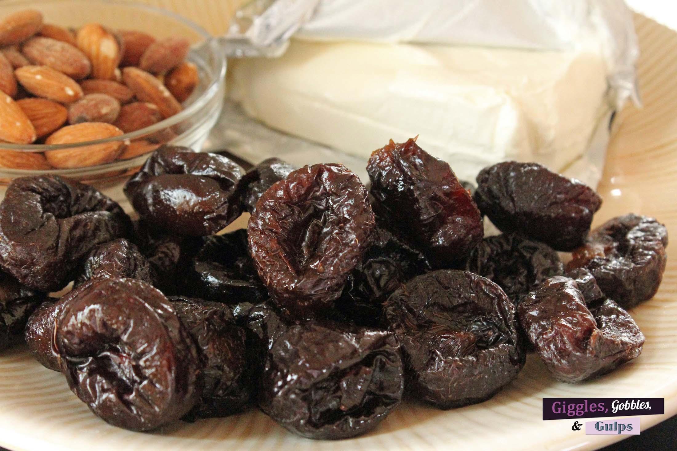 cream cheese stuffed prunes