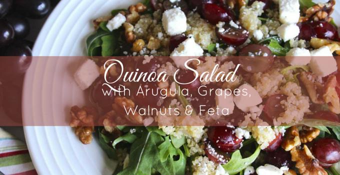 Quinoa Salad with Arugula, Grapes, Walnuts and Feta