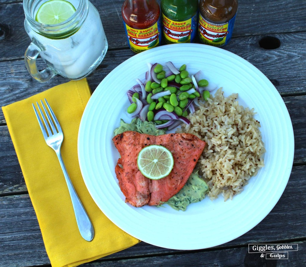 grilled salmon with hot sauce marinade1