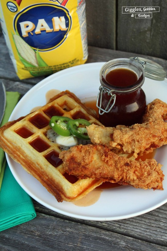 cornmeal chicken and waffles6