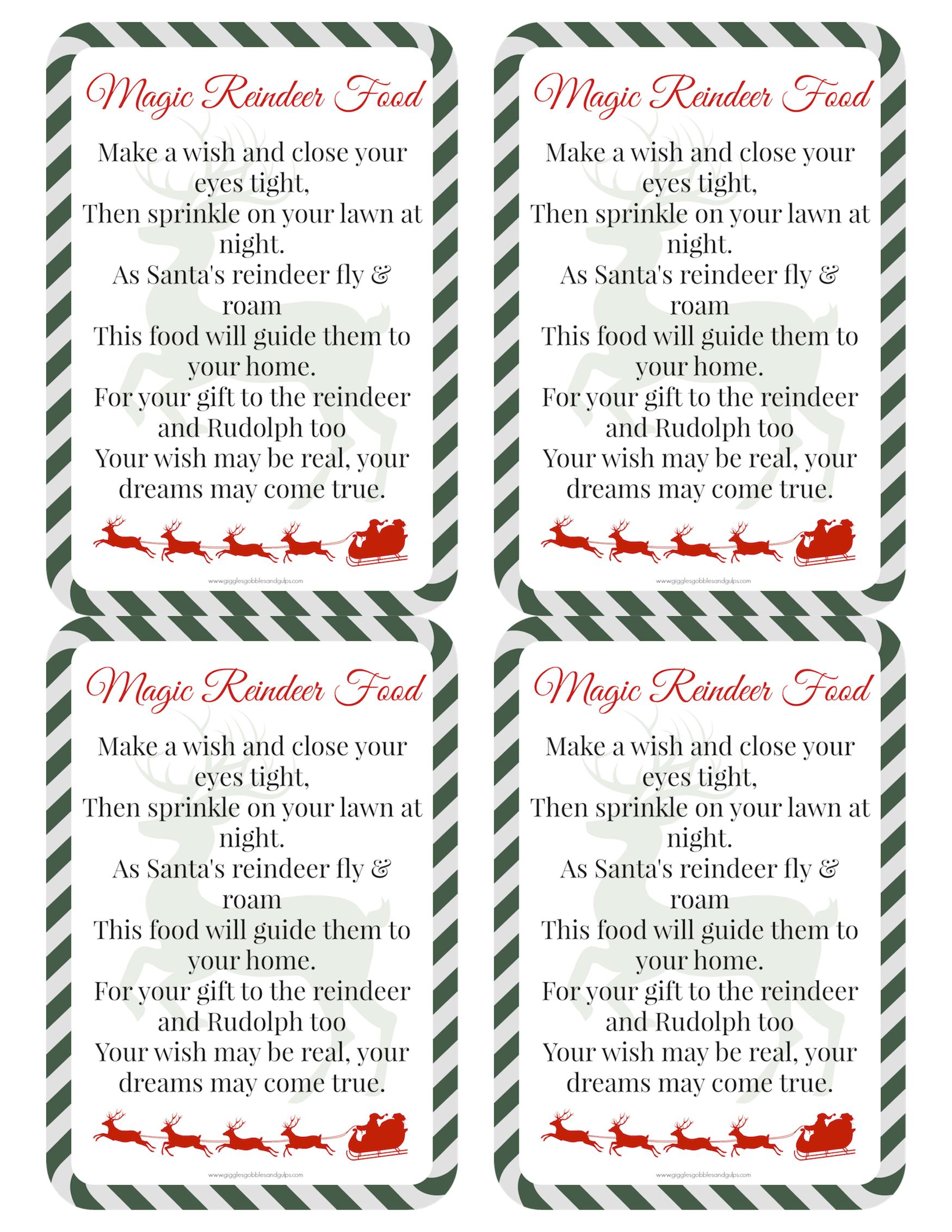 picture about Reindeer Food Printable known as Magic Reindeer Foodstuff Recipe