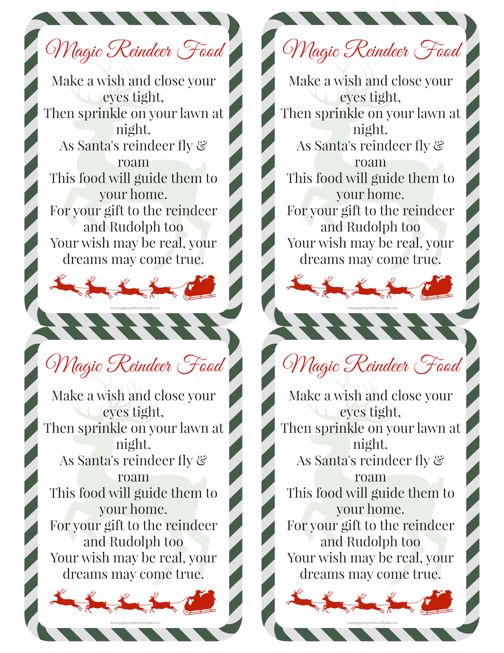 It's just a graphic of Accomplished Reindeer Food Recipe Printable Tag Poem