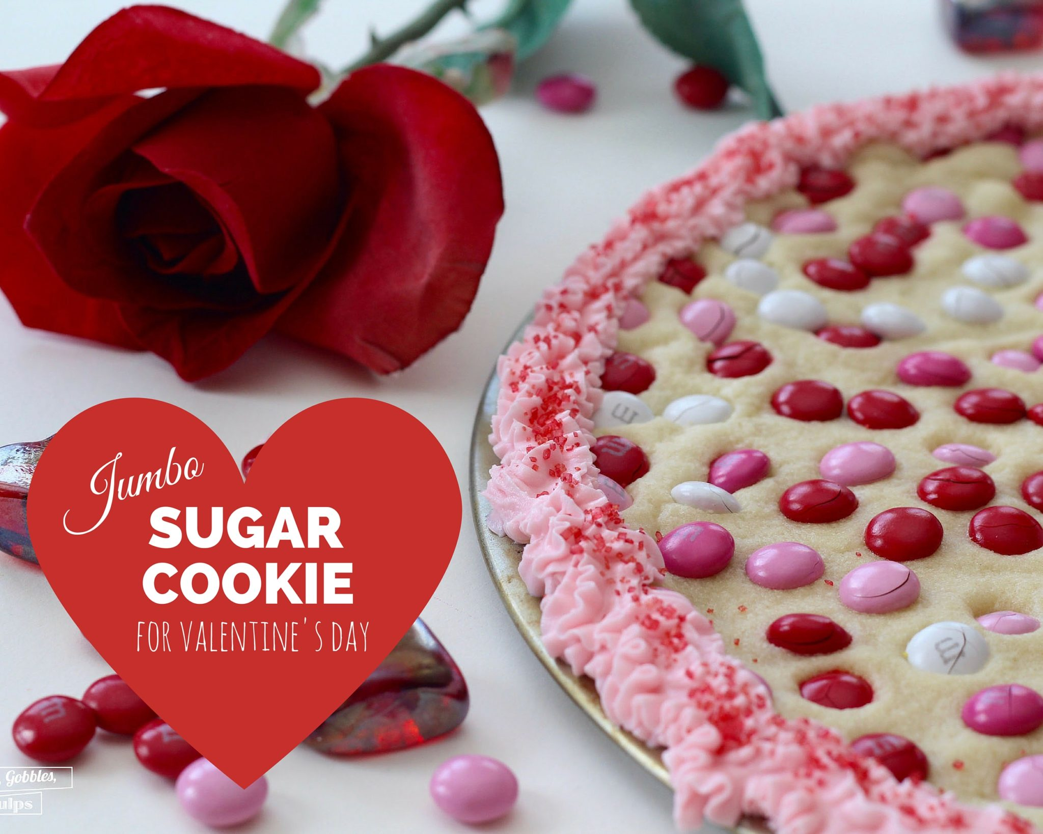 jumbo sugar cookie for valentines day
