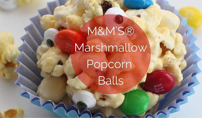M&M'S® Marshmallow Popcorn Balls
