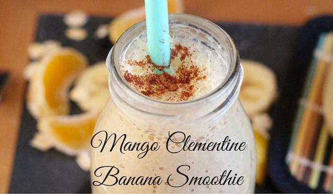 Mango Clementine Banana Smoothie