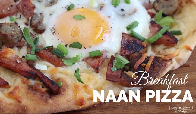 Breakfast Naan Pizza