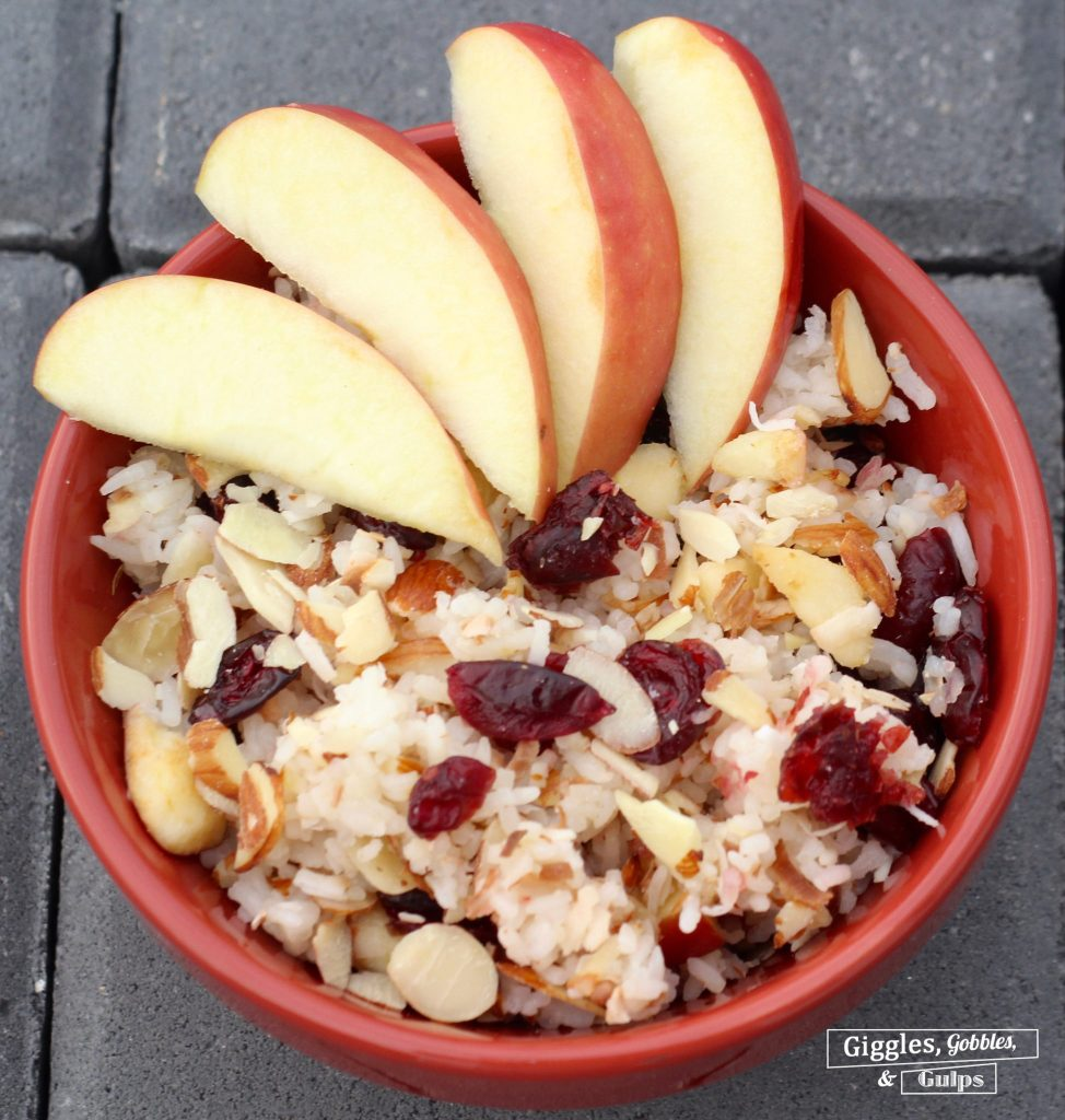 basmati rice apples cranberries almonds coconut
