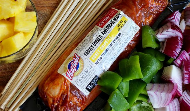 Hatfield Hawaiian Pork Kabobs