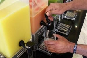 Fresh juice bar at breakfast