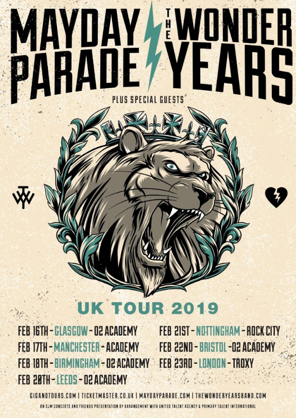 Mayday Parade tour 2019