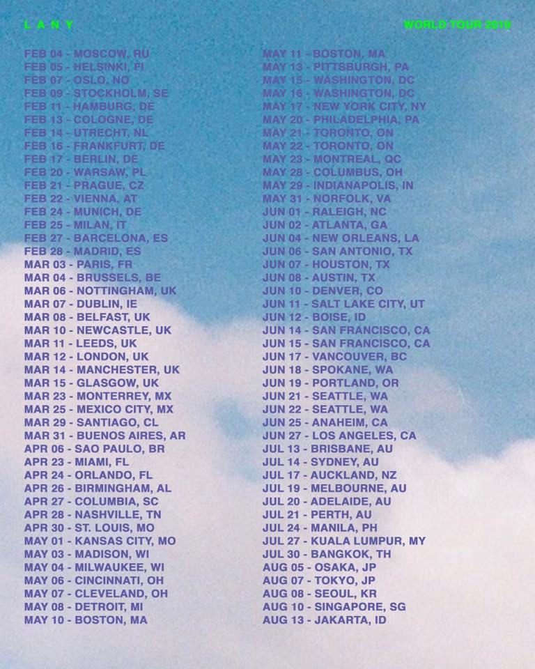 LANY tour 2019