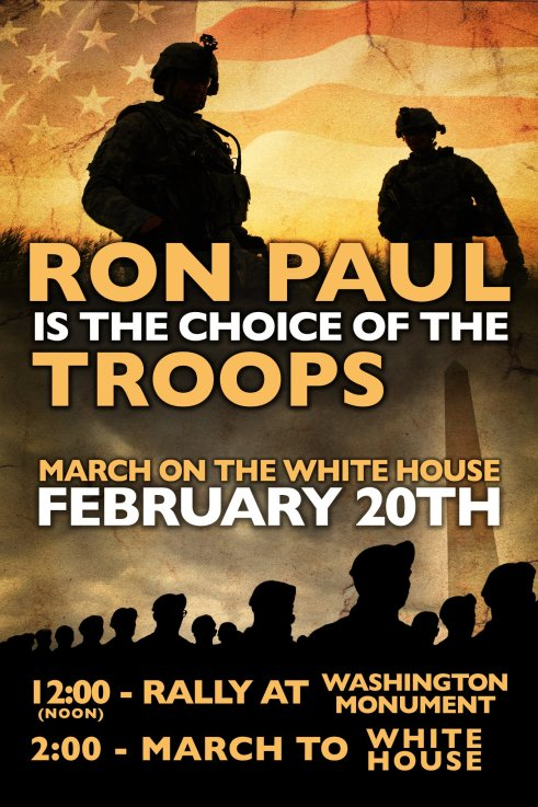 Veterans for Ron Paul march on Washington D.C. Feb 20th
