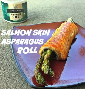 Salmon Skin Asparagus Roll by GiGi Eats Celebrities