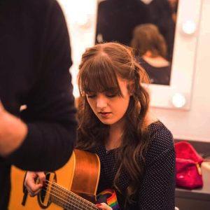 Eliza Hall Backstage