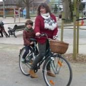 Mum & son biking