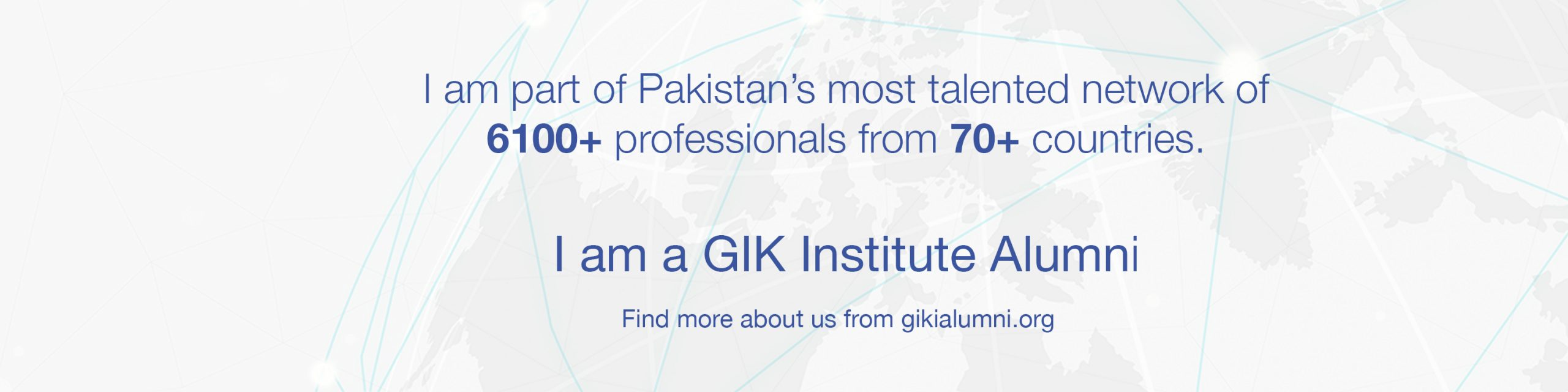 A LinkedIn Cover Photo that highlights the pride that the GIKIAA network holds