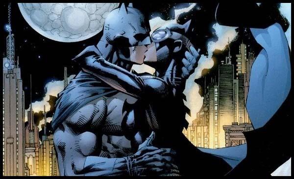 Женщина-Кошка поцелуй бэтмен комиксы