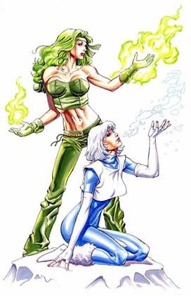Огонь и Лёд DC Comics комиксы