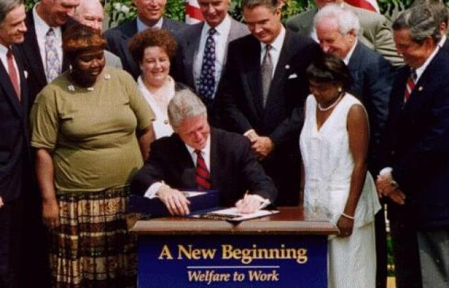 While under impeachment President Bill Clinton passes Bipartisan Welfare Reform Legislation