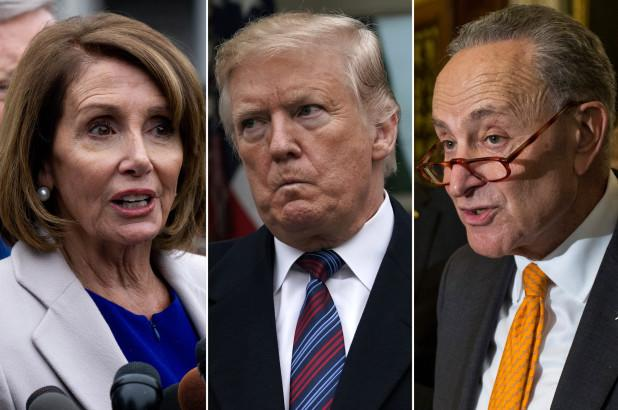 President Trump storms out of meeting with Speaker Nancy Pelosi and minority Leader Charles Schumer