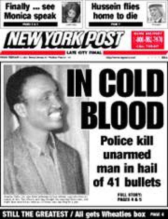 Amadou Diallo killed on Giuliani's watch