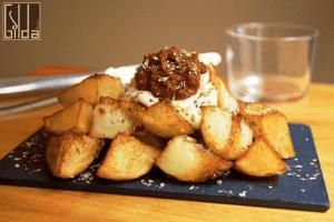 Best patatas bravas in Barcelona. Gilda by Belgious.
