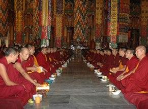 CP-photo-Monks-offering-Puja-Sera-Je-Monastery