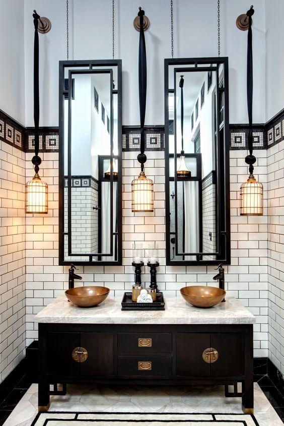 10 gorgeous black and white bathrooms