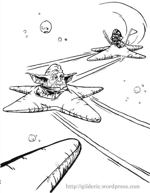 Star Wars (La Foire des Etoiles) - dessin : Gilderic