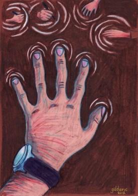 Jeu de mains - dessin de Gilderic