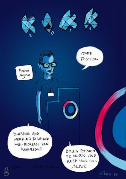 Kikk 2011 - Reportage en dessin de Gilderic