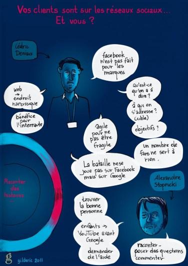 Kikk 2011 (Réseaux sociaux) - Reportage en dessin de Gilderic