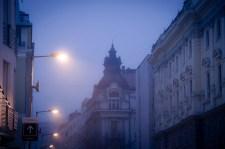 Brume sur la Banque- Une nuit à Bratislava - Photo : Gilderic