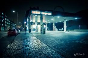 Station d'essence de nuit (Liège)