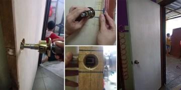 cara menukar pintu rumah dan menukar tombol pintu