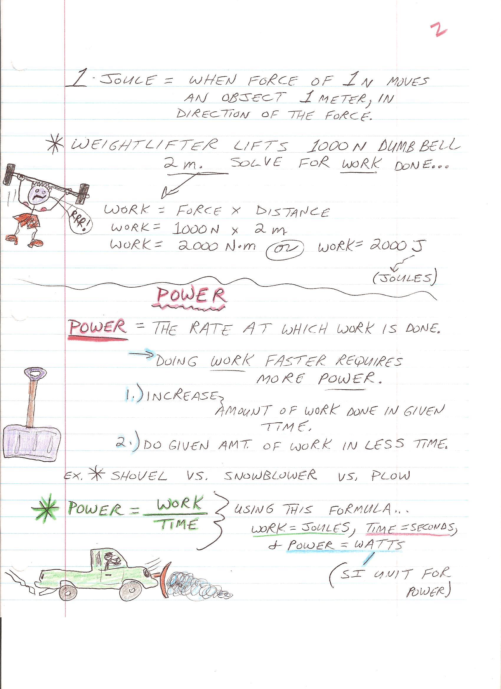 Work And Power Worksheet 1