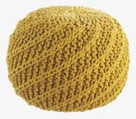 Habitat yellow pouf