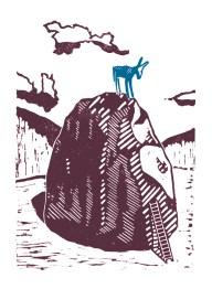 James Green blue donkey