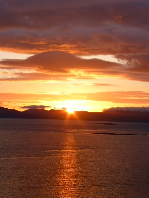 Sunset over Jura