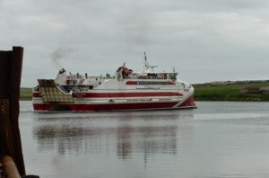 The huge catamaran that took us from St. Margarets Hope on Orkney to Gill's Bay on the mainland.