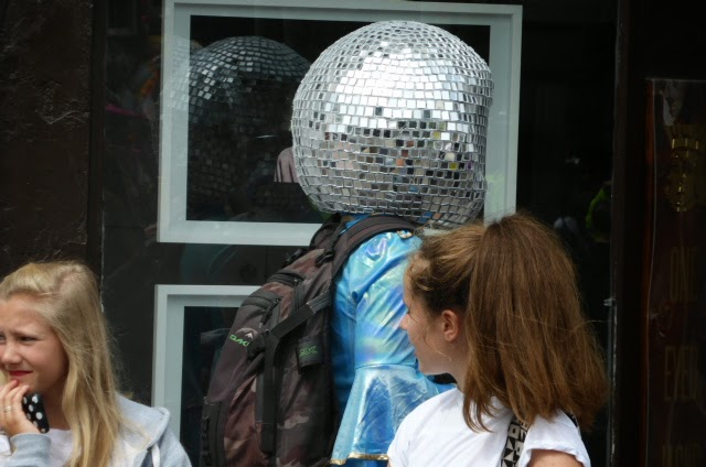 Just a bloke wearing a glitter ball