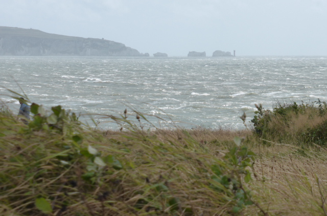 The Needles over troubled waters.