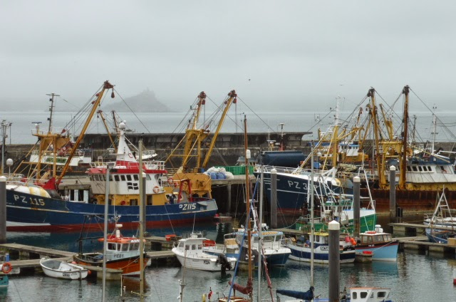 Leaving Penzance. My mind was busier than the harbour.