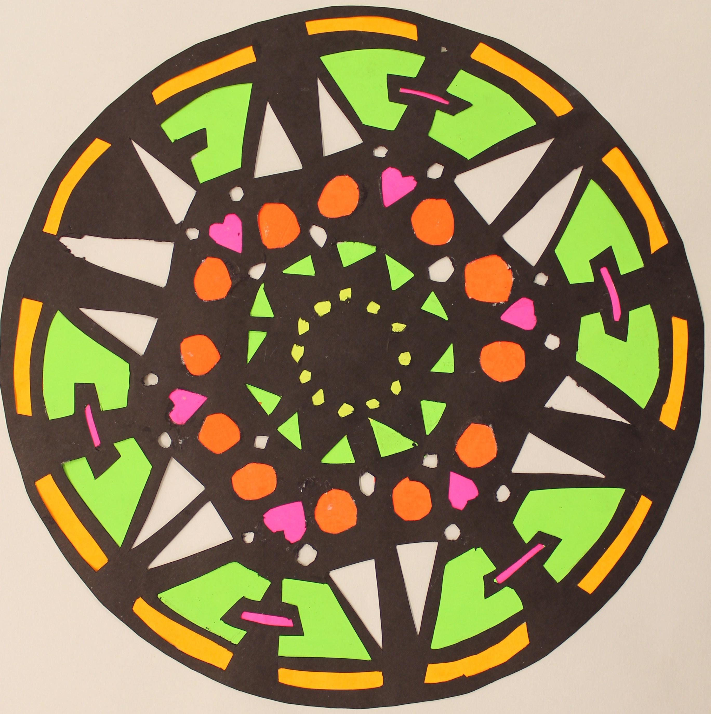 Radial Symmetry Paper Cutting 6th Grade Hamburg Middle School