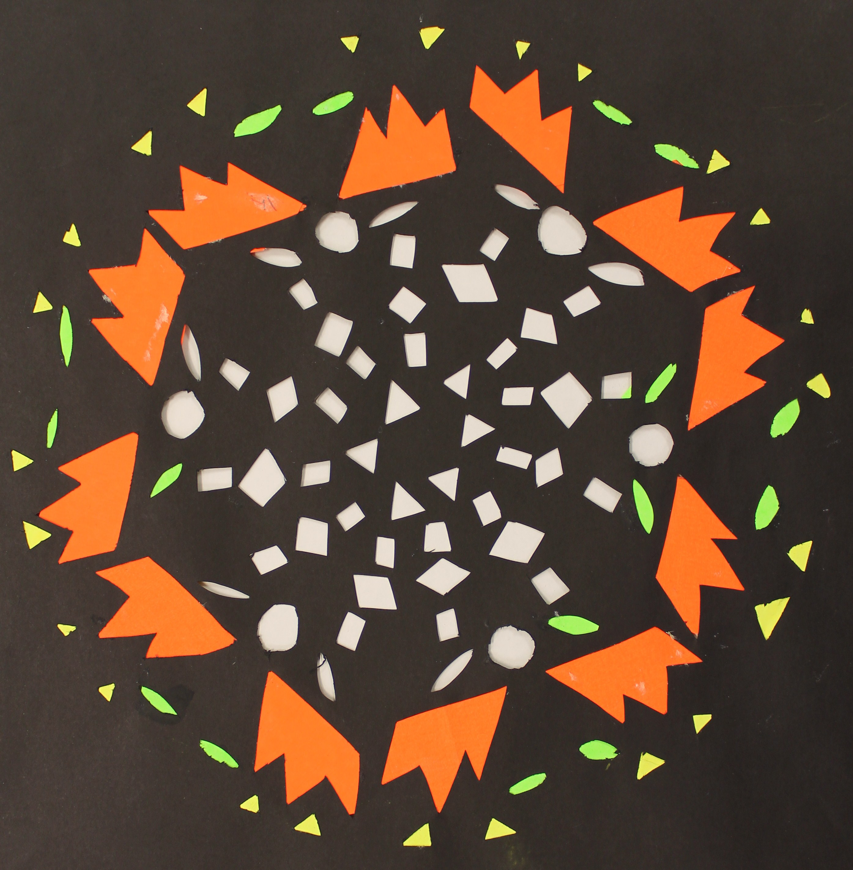 Radial Symmetry Paper Cutting 6th Grade Hamburg Middle